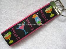 IT'S 5 O'CLOCK SOMEWHERE Key Fobs (really cute keychains)