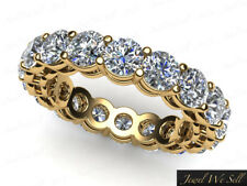 4.00Ct Round Cut Diamond Open Gallery Eternity Band Ring 10k Yellow Gold GH I1