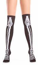 Skeleton Bones Knee Highs Stockings Socks Costume BW403