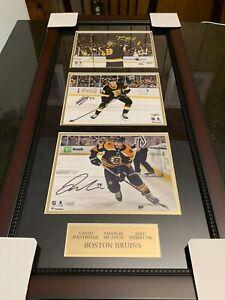 David Pastrnak Charlie McAvoy Debrusk Boston Bruins Signed Framed Photo Fanatics