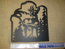 Deer Silhouette Black Metal Wall Art Decor by Midwest Cbk