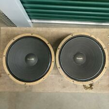 """Pair UNIVERSITY C15W WOOFER 4-20 OHMS 15"""" dual 8 ohm voice coils speakers"""
