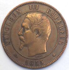 Napoleon III 10 centimes 1855 BB bronze #1266