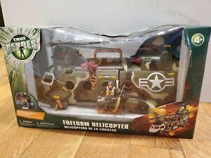 Rare New Box True Heroes Freedom Helicopter 2008 Easy Toys R Us  #328181 NIB