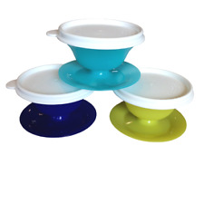 Tupperware Pudding Desert Cups Set Of 3