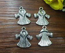 5pcs clothes Tibetan Silver Bead charms Pendants DIY jewelry 20x18mm J87