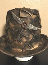Steam Punk Costume Topper, Gold Faux Metal, Custom made by hand winged key
