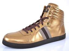 NEW GUCCI 325380 METALLIC BRONZE LTD.ED. HIGH TOP SNEAKERS SHOES 12.5 13.5