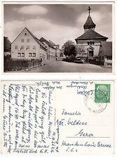 Bochingen bei Oberndorf Neckar Kr. Rottweil, Hauptstraße mit Gasthaus Lamm 1956