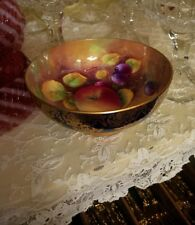 VINTAGE PARAGON TEA CUP SUGAR BOWL FRUIT ORCHARD HARVEST HAND PAINTED SIGNED