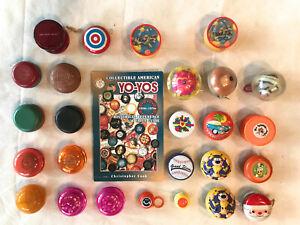 Lot of 26 Vintage Duncan, Marxie, Champion, Wood, Tin & Others YO-YOs + Catalog