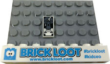 NEW Lego TAROT CARD 1x2 Printed White Fortune Teller - Gray Tower Minifig Tile
