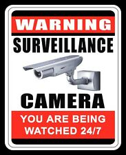 10 x 8 WARNING SURVEILLANCE CAMERA 24/7 SECURITY TRESPASS METAL PLAQUE SIGN N285