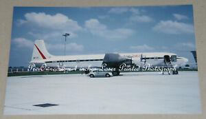 Temple Airlines Douglas DC-7 N286, Munich, 6.68, Aviation Aircraft Photograph