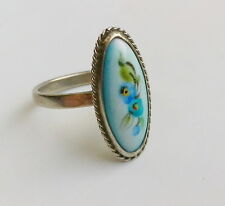 finift Rare Soviet Russian Ussr 1990-s Fashion ceramics jewelry lady finger ring