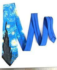 RALPH MARLIN Men's Vincent Van Gogh Starry Night Made in USA Neck Tie