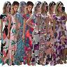 5XL Bohemian Women Digital Print Short Sleeve Asymmetrical Hem Skinny Maxi Dress