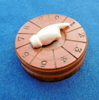 RARE ANTIQUE MID 19th C WOODEN  GAME SCORER COUNTER MARKER  CARD GAME TREEN  ?