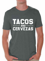 Tacos And Cervezas Shirt for Men Cinco de Mayo Gifts for Him Taco Tshirt for Men
