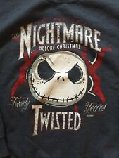 NIGHTMARE BEFORE CHRISTMAS Disney Jack Skellington SWEATSHIRT Medium Blue