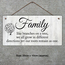 Family, like branches......Plaque - Metal Sign Family Tree Gift Sentiment