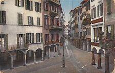 Ak Lugano via Nassa calle farmacia hace 1945