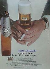 PUBLICITE VEGA 2000 BIERE DE LUXE HOMME CIGARETTE DE 1969 FRENCH AD PUB VINTAGE