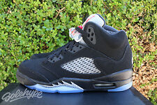 AIR JORDAN 5 RETRO V OG GS 5 Y 2016 METALLIC SILVER BLACK RED 845036 003