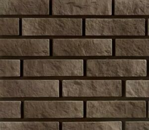 Decorative Brick Slips 3D Polyurethane Moulds Cladding Craft Casting Set Of 2
