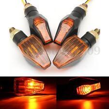 4X 12V Universal Motorcycle Blinker Turn Signal Indicator Light Lamp Bulb Amber