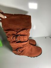 Iso What! Orange Boot  Shoes Size 9 W Box