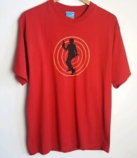 Austin Powers Official Vintage 2002 Hypnotic Print Red Shirt  1960s 1970s