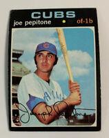 1971 Joe Pepitone # 90 Chicago Cubs Topps Baseball Card