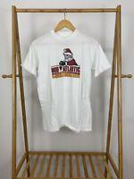 VTG Hanes 80s Mid Atlantic Construction Santa Claus Single Stitch T-Shirt Size M