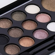 Pro Smoky Eye Shadow Palette Glitter Shimmer Neutral Nude Warm Makeup 14 Color#