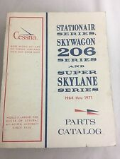 Cessna Stationair Skywagon 206 Super Skylane Parts Manual 1964-1971