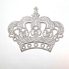 Silver Imperial Crown Royal King Queen Cute Gifts Jeans Jacket Shirt Iron Patch