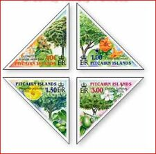 PIT0208 Trees, flowers, fruits 4 stamps