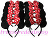 24 Minnie Mouse Ears Headbands Red Polka Dot Bows Birthday Party Favors Mickey