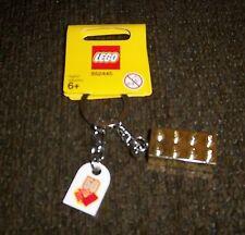 LEGO GOLD BRICK KEY CHAIN W/ 50TH. ANNIVERSARY TAG NEW ON CARD