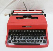 OLIVETTI LETTERA 32 TYPEWRITER SALMON WITH CASE - WORKING