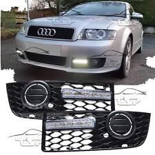 FRONT RUNNING LED LIGHTS DRL FOR AUDI A4 B6 00-04 S-LINE DAYLIGHT FOG GRILL