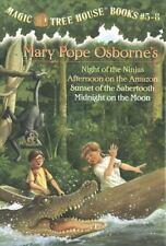 New Magic Tree House Set, Books 5-8: Night of the Ninjas Afternoon on the Amazon