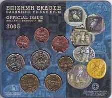 Grecia KMS 2005 euro in ORIG. BLISTER, corso set di monete, Greece COIN SET