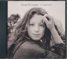 Sarah McLachlan U Want Me 2 RARE promo CD single w/ radio mix '08