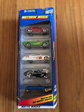 Hot wheels 1998 motorin' music, 5 car pack, Mustang, Cadillac, corvette, camaro.