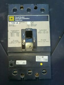USED Square D Circuit Breaker KAL36100 100A 3P GREAT CONDITION - FREE SHIPPING