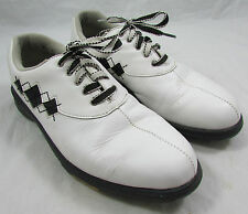 Women's FootJoy Comfort Black and White Diamond Golf Shoes Soft Spikes 7.5M