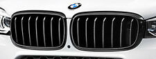 BMW 2014+ F15 X5 F16 X6 OEM Genuine M Performance Gloss Black Front Grille Pair