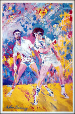 """LeRoy Neiman Poster """"Racquetball"""" Vintage POSTER sports  Make an Offer!"""